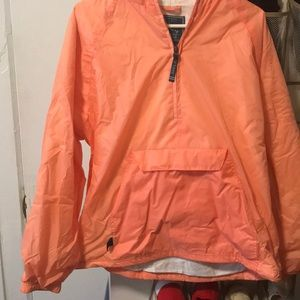 Coral pull over rain jacket
